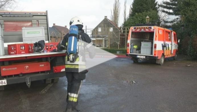 Huis in Berlaar volledig vernield na hevige brand