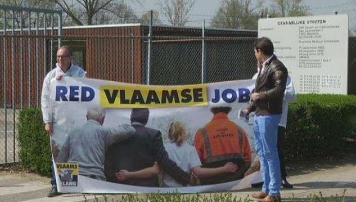 Vlaams Belang voert actie bij DAF in Oevel