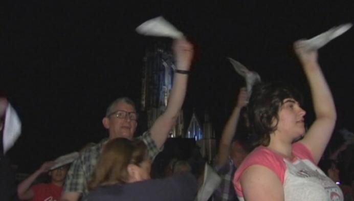Wereldrecord polonaisedansen verbroken in Mechelen