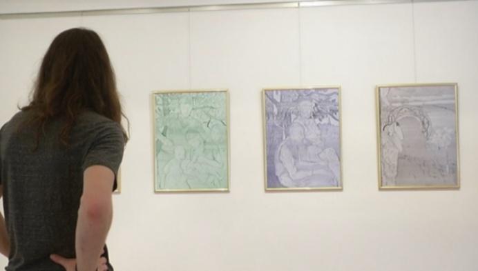 Jongen kunstenaars kapen Jacob Smitsmuseum