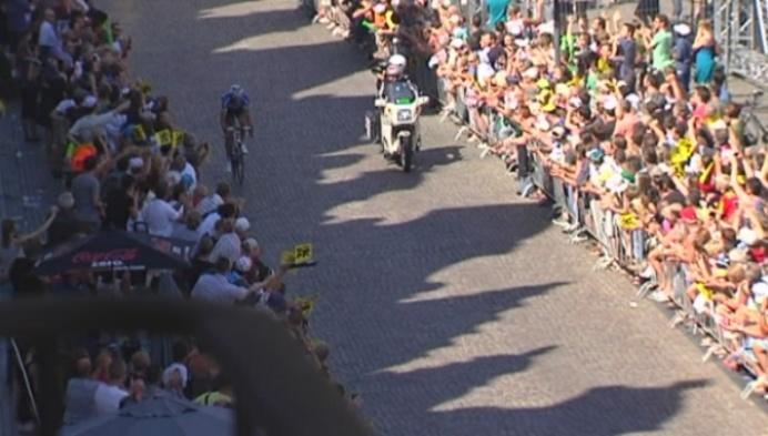 Chris Froome aan de start van Mechels na-Tourcriterium
