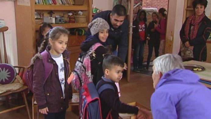 Eerste schooldag vluchtelingen in Turnhout