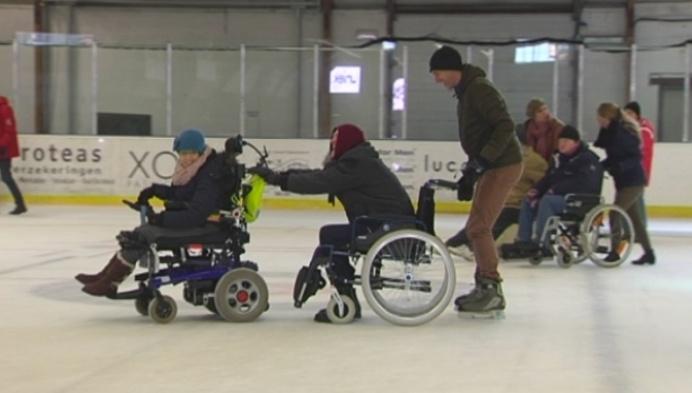 Andersvaliden binden schaatsen aan in Turnhout