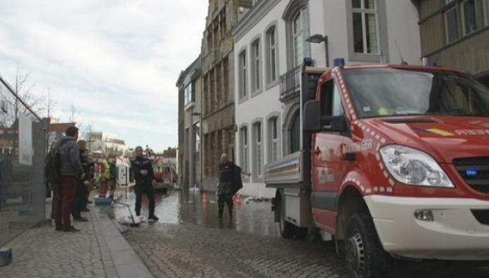 Zoutwerf onder water in Mechelen
