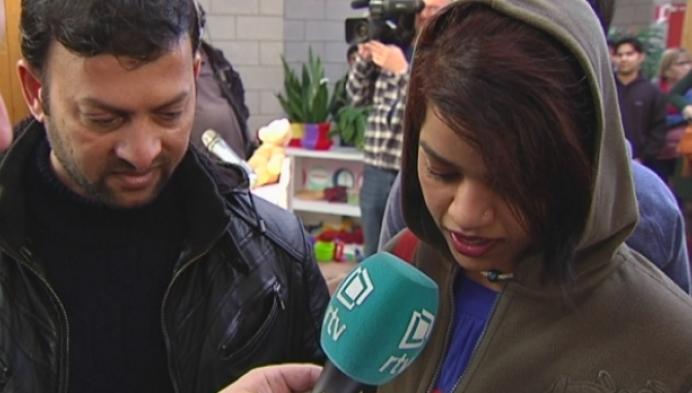 Asielzoekers nemen afscheid van Zilvermeer in Mol