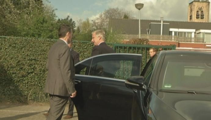 Koning Filip bezoekt Minderhoutse basisschool Scharrel