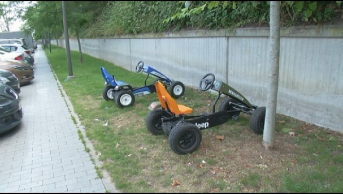 Gestolen go-carts na enkele uren teruggevonden