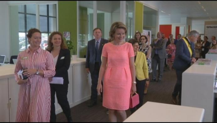Koningin Mathilde op bezoek bij Libelle