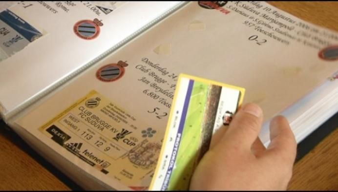 Puttenaar heeft grote verzameling Club Brugge-tickets