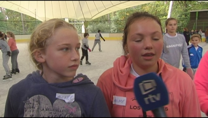 Schaatsen in Herentals bij een brandende zon