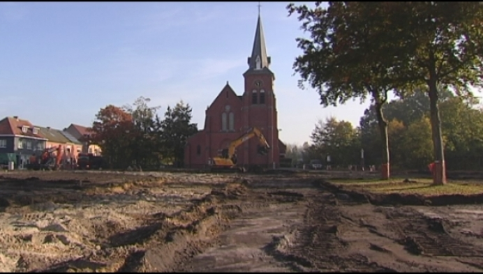 Mol-Rauw bezorgd over vervuiling bij heraanleg Kerkplein