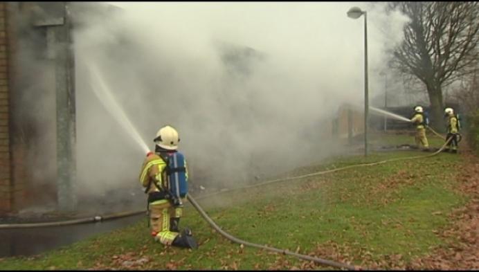 Scoutslokalen in de as gelegd door zware brand