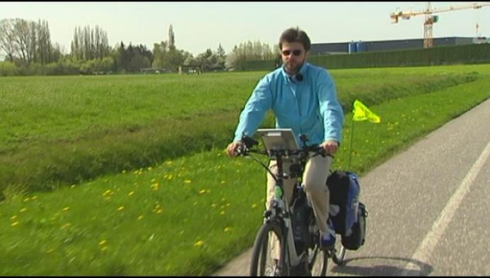 Speciale meetfiets onderzoekt 3000 kilometer fietspad
