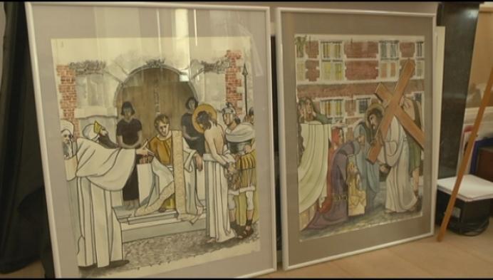 14 schilderijen Kruisweg van begijnhof Lier zijn af