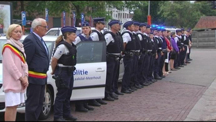 Kempense politie houdt eerbetoon voor Luikse collega's