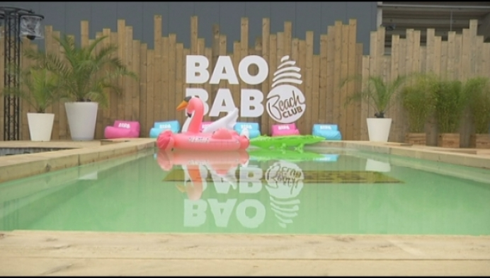 Baobab Beach bar: strandfun in de Kempen