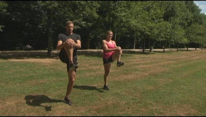 Olympiërs geven bewegingsles