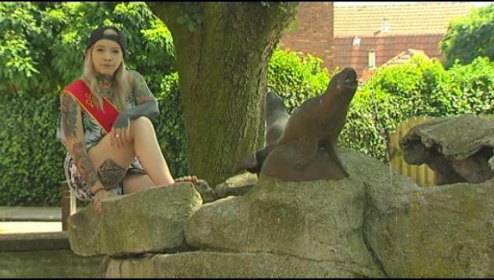 Turnhoutse Iris Bogaerts is finaliste Miss Tattoo Belgium