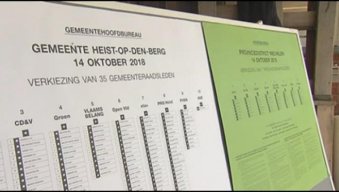 Heist o/d Berg stemt met potlood en papier