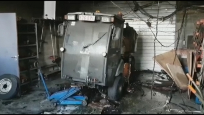 Veegmachine vat vuur in opslagplaats Meerhout