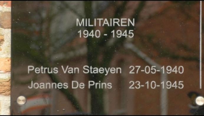 Ook Vlimmeren heeft nu herdenkingsplaat voor oorlogsslachtoffers