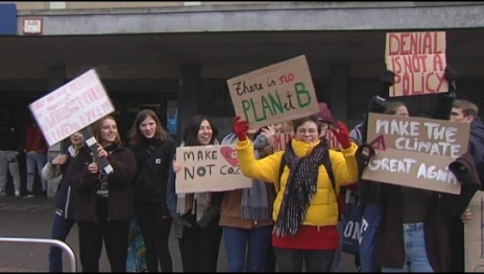Mechelse leerlingen spijbelen en betogen voor klimaat