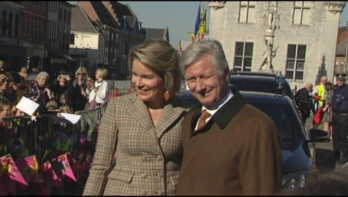 2.000 inwoners ontvangen koning en koningin op markt in Herentals