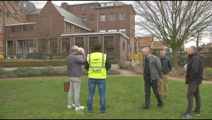 Stormschade Klein Seminarie opgemeten met drone