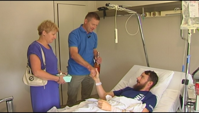 Loper die hersenbloeding kreeg heeft redders gevonden