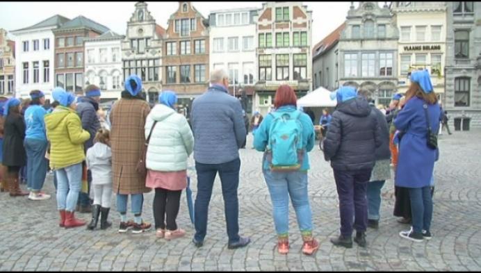 Grote Markt kleurt blauw: diabetespatiënten vragen meer aandacht
