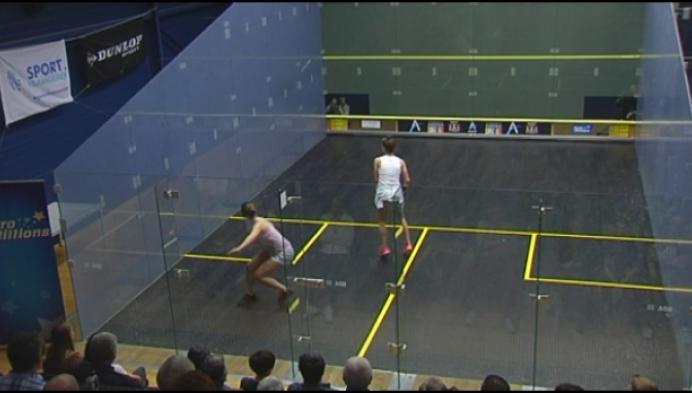 Nele Gilis klopt zus Tinne en volgt zichzelf op als Belgisch kampioene squash