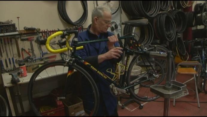 12.500ste fiets van Heistse Fietsatelier is een vintage Eddy Merckx