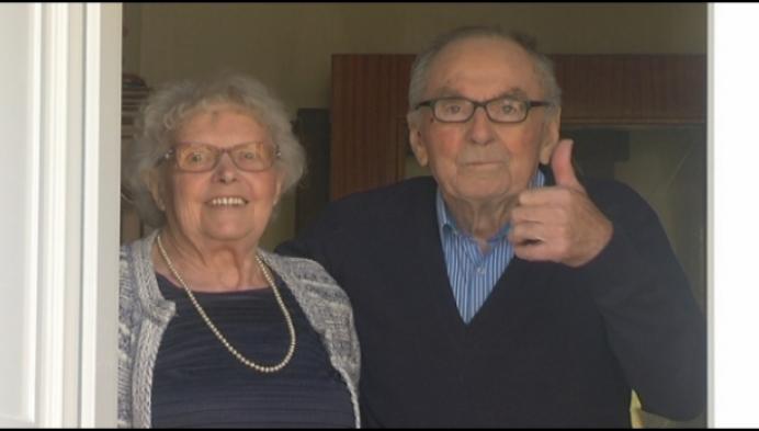 Hilda en Gustaaf vieren 70ste huwelijksverjaardag in hun kot