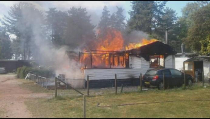 Explosie en brand in chalet verblijfpark Tulderheyde