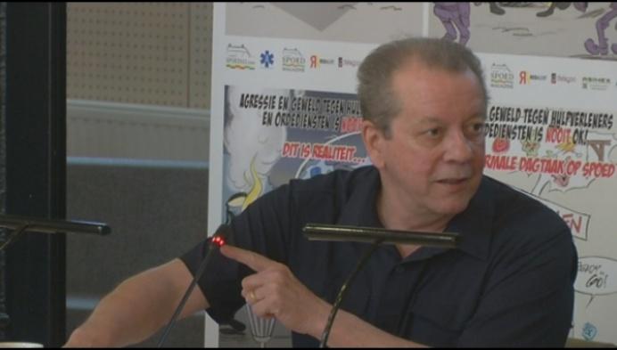 Walter Grootaers gezicht campagne tegen geweld hulpdiensten