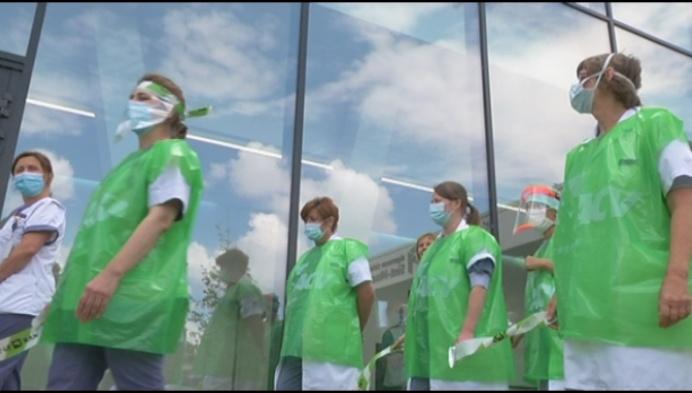 Zorgpersoneel Sint-Maarten voert actie voor meer geld en personeel