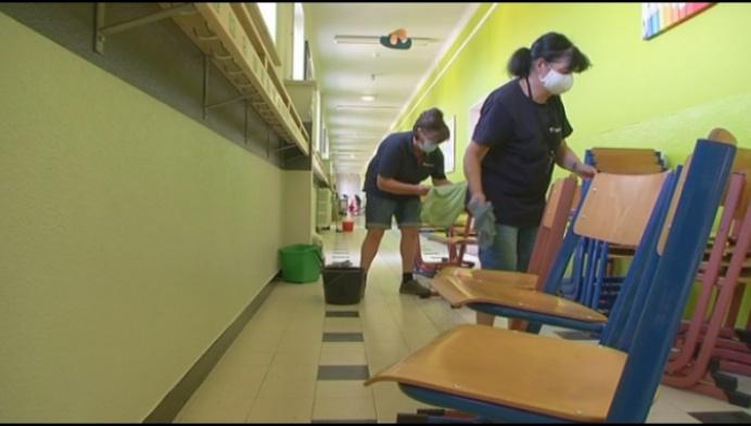 Nog hele week poetsen na vandalenstreek in school Rijkevorsel