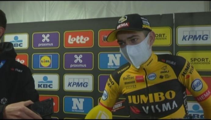 """Van Aert na WK ook 2de in Ronde: """"Wil je nu zeggen dat ik een sukkelaar ben?"""""""