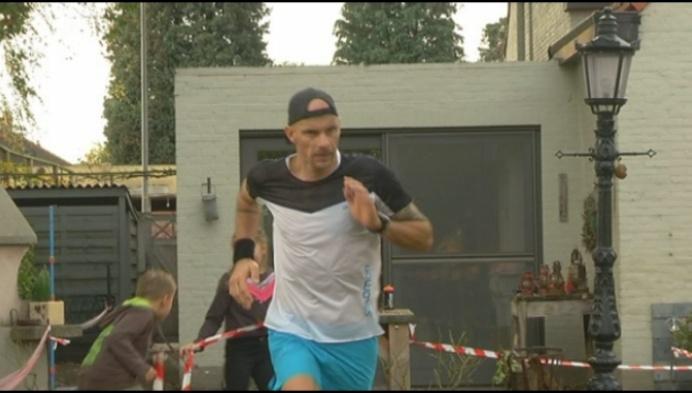 Turnhoutenaar loopt marathon in eigen achtertuin