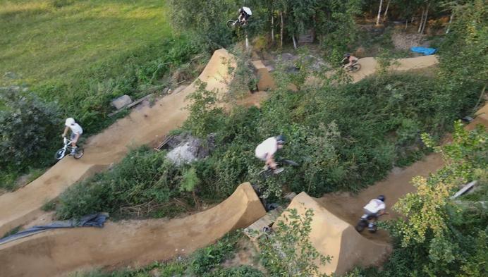 BMX-ers moeten parcours in eigen bos afbreken