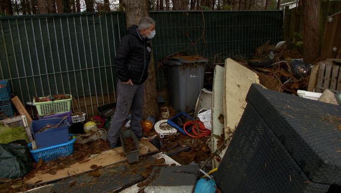 Huurders laten enorm stort achter in achtertuin
