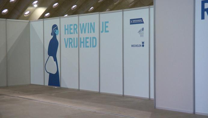 Zo ziet het vaccinatiecentrum eruit in de Nekkerhal in Mechelen