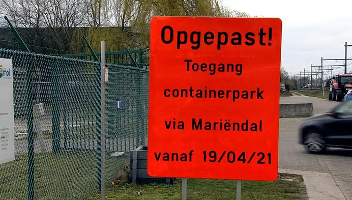 Discussie over nieuwe verkeerssituatie aan containerpark Mol Millegem
