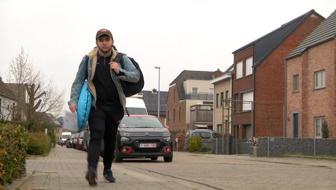 Turnhoutse student te voet naar Brussel voor het onderwijs