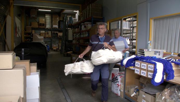 Familie Schoepen zamelt hulpgoederen in voor Verviers