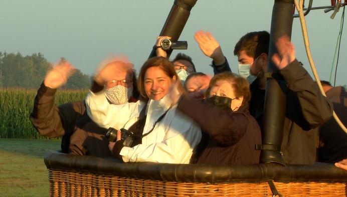 Ballonvaart voor 80ste verjaardag van 'De Bomma'