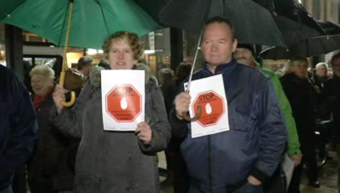 2de protestmars tegen proefopstelling