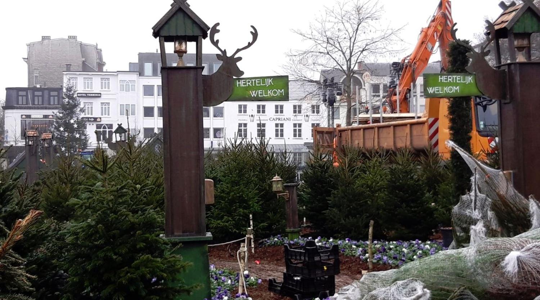 Turnhoutse wintertuin brengt gezelligheid op de Grote Markt | RTV
